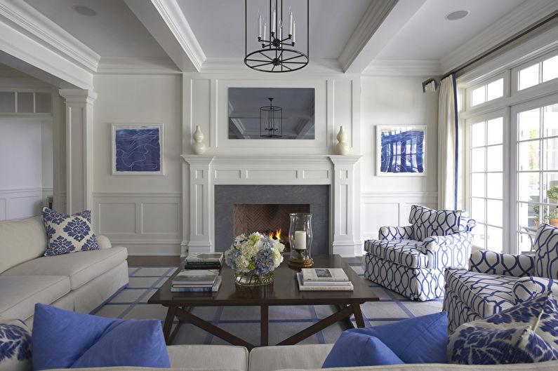Дизайн потолков из гипсокартона фото для гостиной с камином | 529x795
