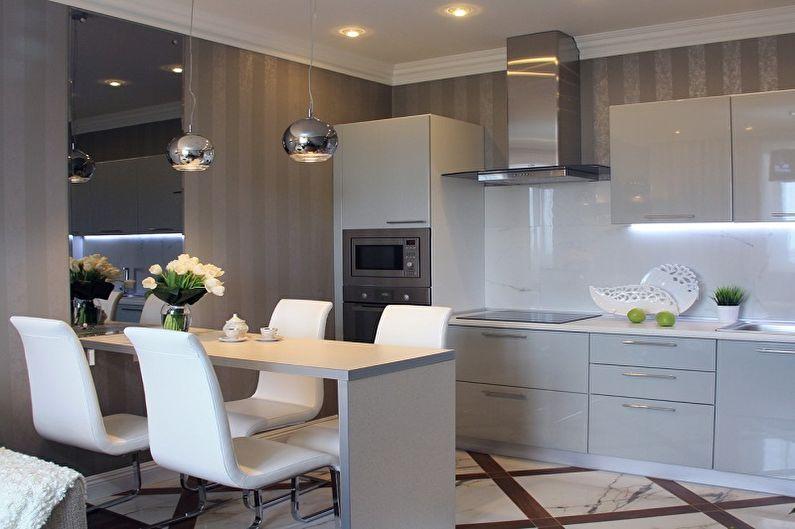 Дизайн кухни 13 кв.м. (70 фото)