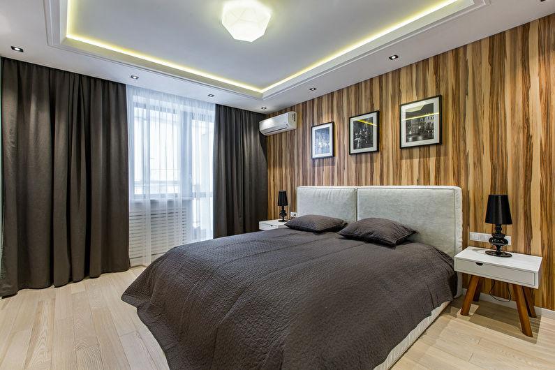 Потолок из гипсокартона в спальне (+68 фото)
