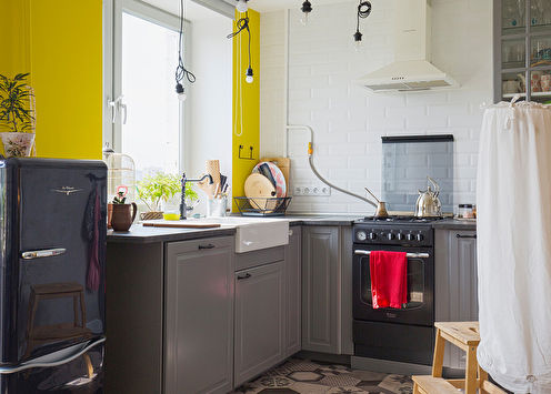 Сочетание цветов в интерьере кухни: 75 идей