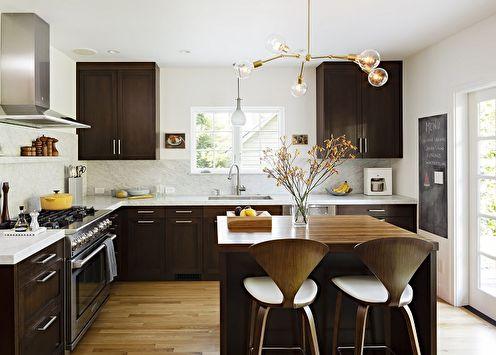 Дизайн кухни 10 кв.м. (+70 фото)