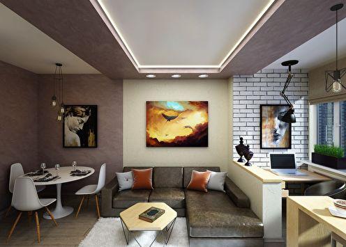 Дизайн-проект гостиной «Спеши мечтать»