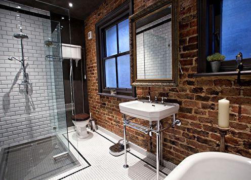Ванная комната в стиле лофт (+65 фото)