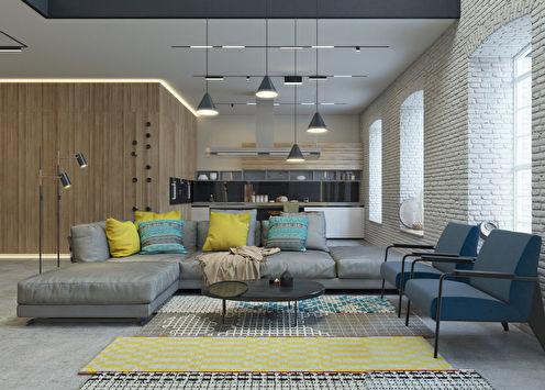 «Ethnic Space»: Дизайн кухни-гостиной