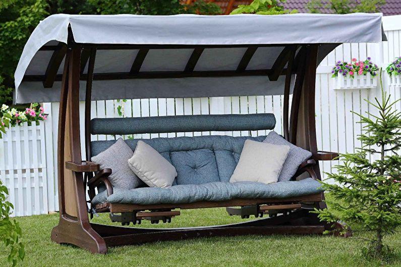 Виды качелей для дачи - Садовые качели для спокойного отдыха
