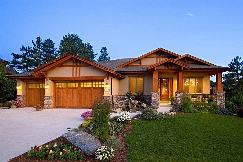 Одноэтажный дом с гаражом - Преимущества
