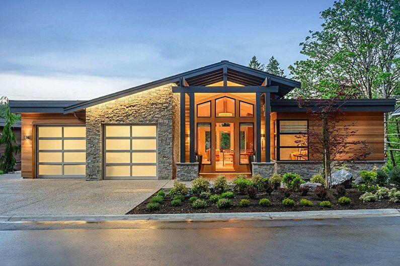 Одноэтажный дом с гаражом - Материалы для строительства