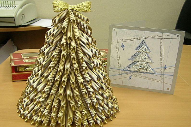 проведенных новогодние елки из макарон фото вначале фортепиано могло