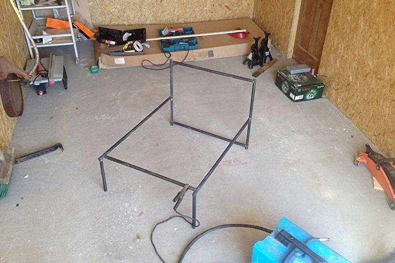 Изготовление кресла-качалки из металла своими руками