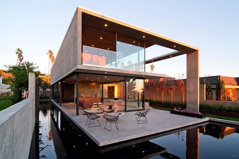 Дома с плоской крышей - Особенности