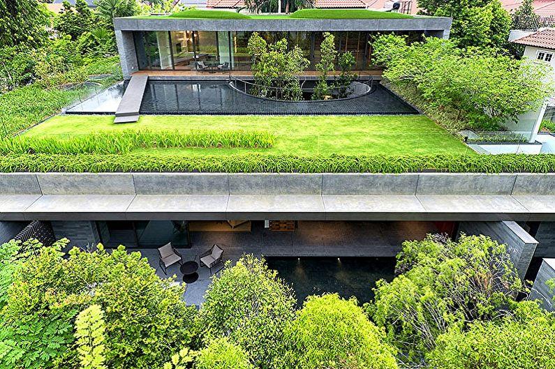 Дома с плоской крышей - Обустройство крыши, удачные идеи