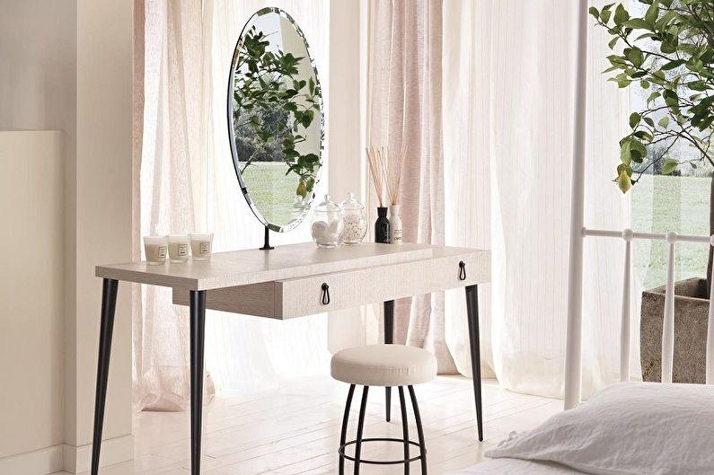Туалетный столик с зеркалом - Сидение для туалетного столика
