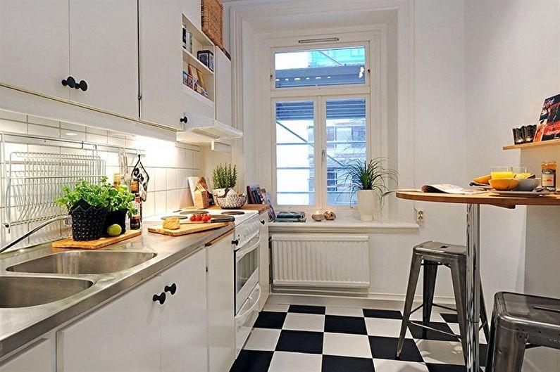 Дизайн кухни в хрущевке - Отделка пола