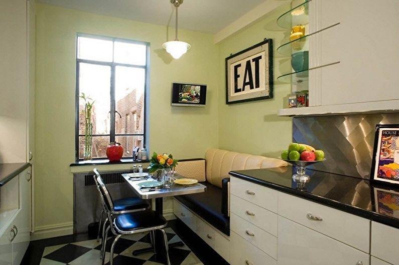 Дизайн кухни в хрущевке - Отделка стен
