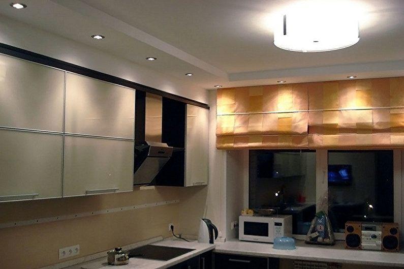 Дизайн кухни в хрущевке - Отделка потолка