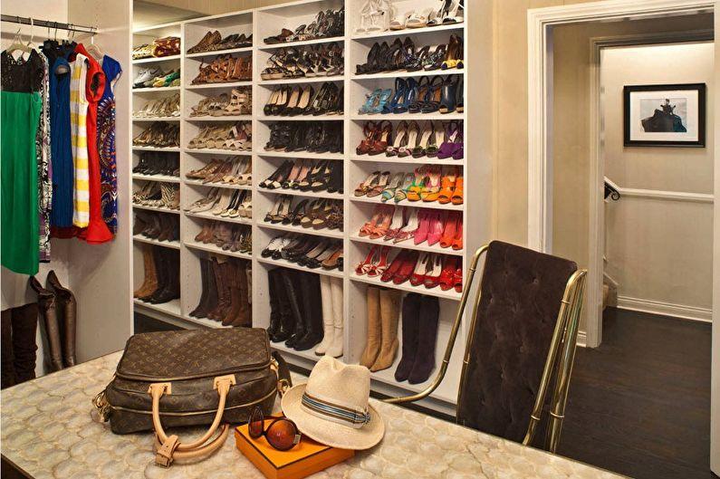 Виды обувниц для прихожей - Стеллажи