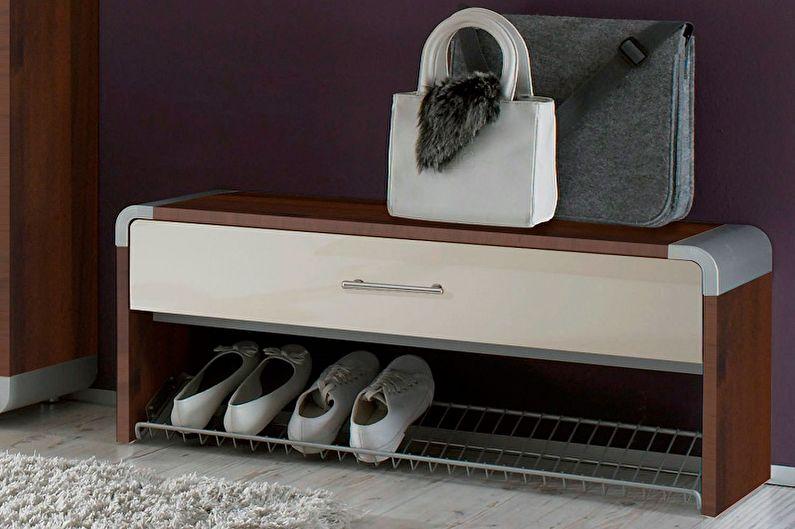 Виды обувниц для прихожей - Галошница