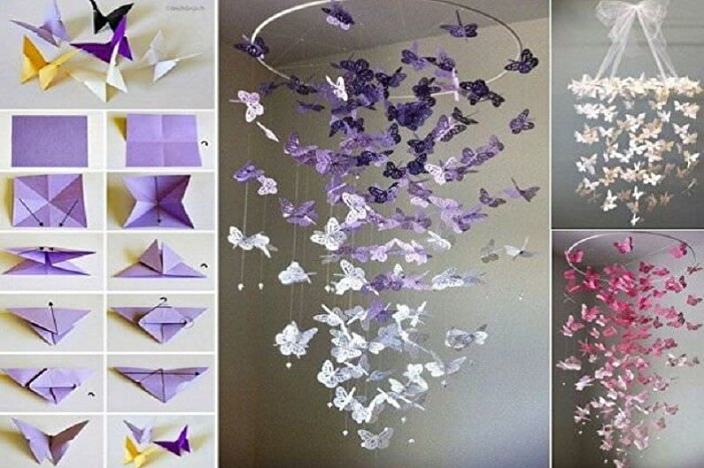 Бабочки на стену своими руками - Бабочка-оригами из бумаги