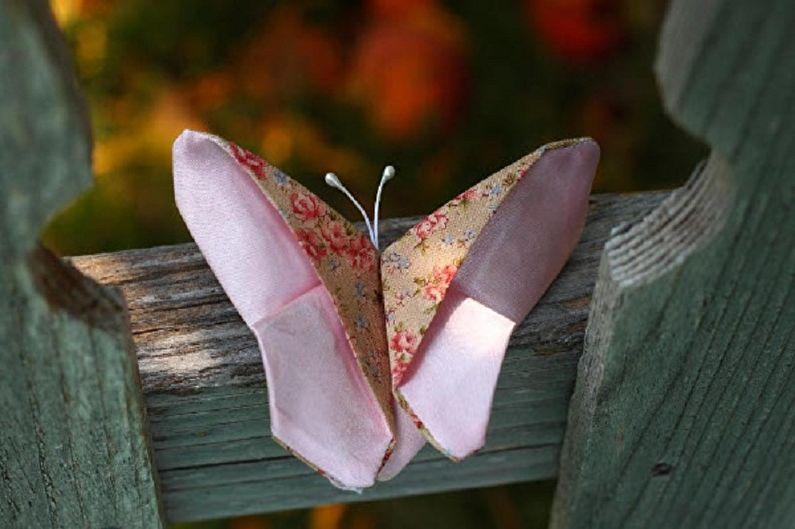 Бабочки на стену своими руками - Бабочки из ткани