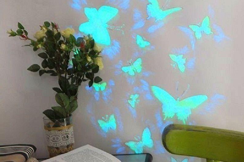 Бабочки на стену своими руками - Светящиеся бабочки