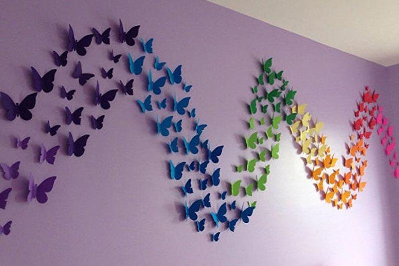 Бабочки на стену - фото декора