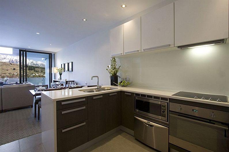 Функционал маленькой угловой кухни - Маленькая угловая кухня с полуостровом