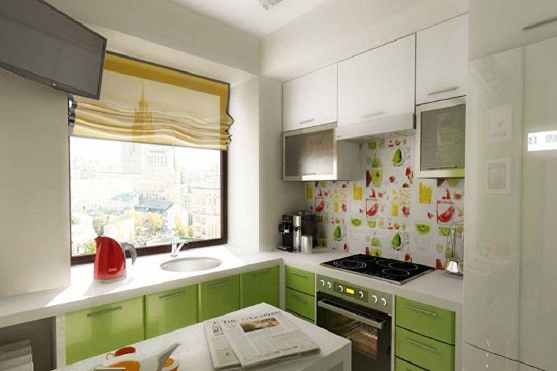 Функционал маленькой угловой кухни - Подоконник как часть кухонного гарнитура