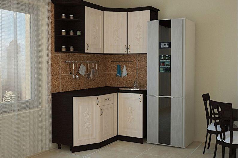 Функционал маленькой угловой кухни - Кухня для холостяка
