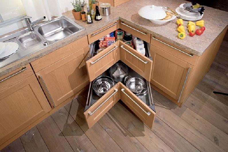 Функционал маленькой угловой кухни - Маленькая угловая кухня с необычными решениями