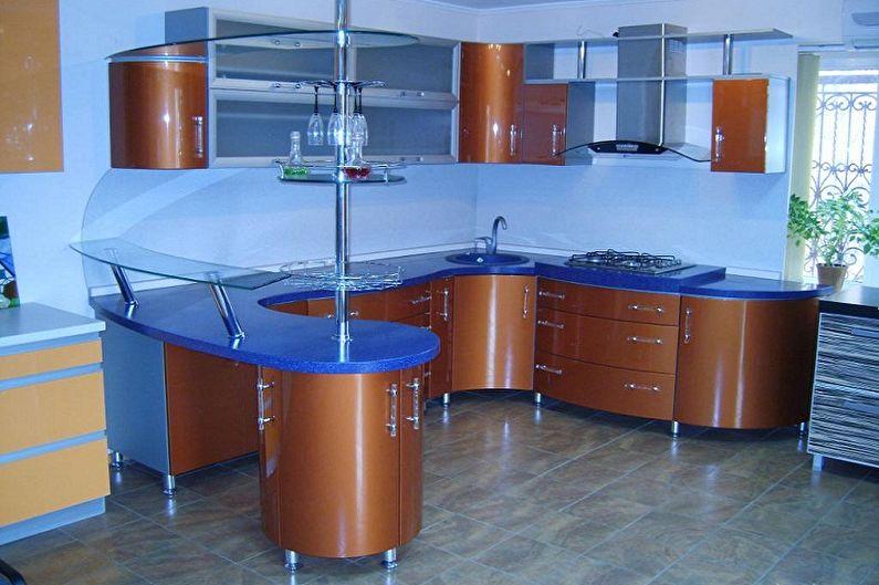 угловые кухни с гнутыми фасадами фото полезная