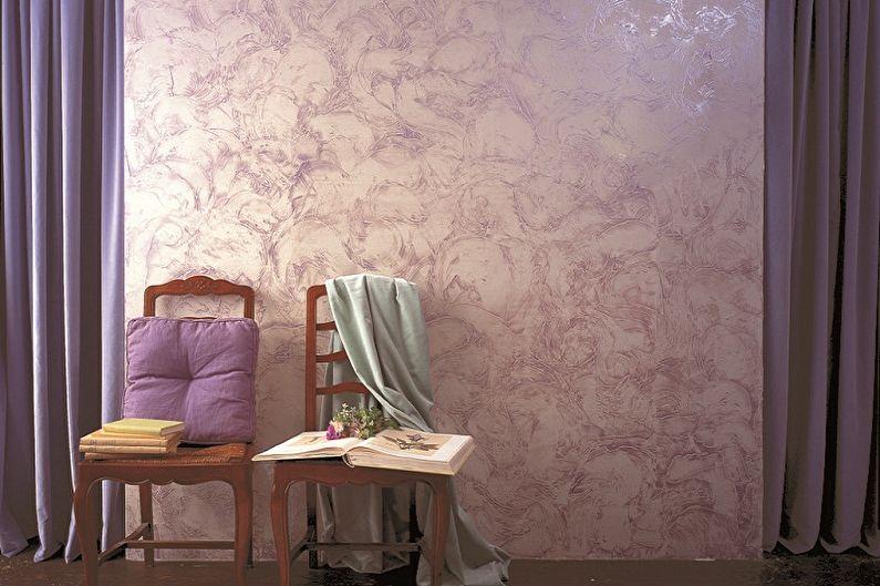 Виды фактурных красок для стен