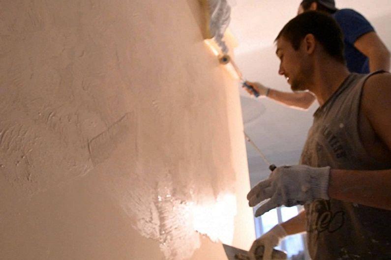 Фактурные краски для стен - Как работать с фактурной краской