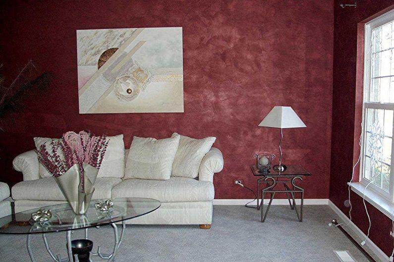 Фактурные краски для стен - фото