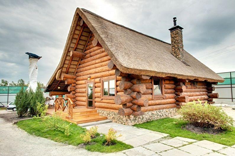 Дома из оцилиндрованного бревна - фото и проекты