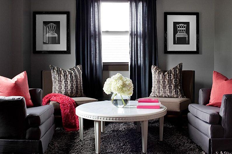 Черный с серым - С какими цветами сочетается серый