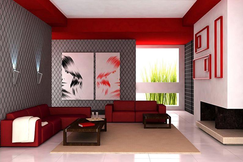 Красный с серым - С какими цветами сочетается серый