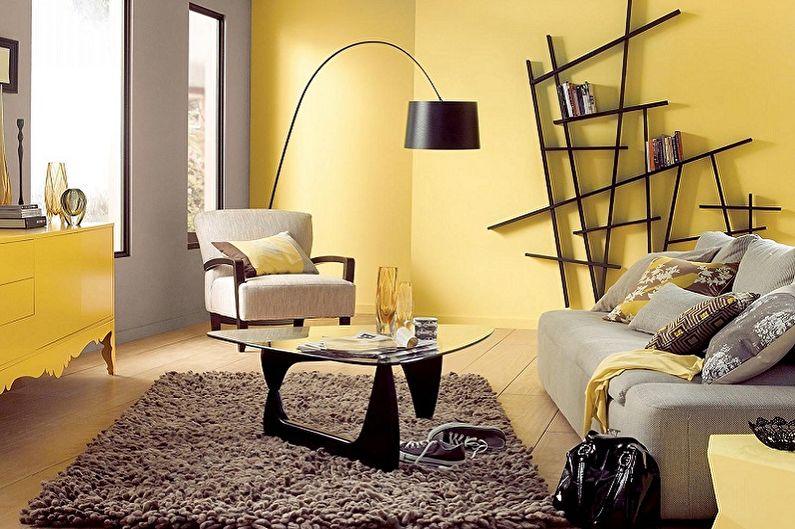 Желтый с серым - С какими цветами сочетается серый
