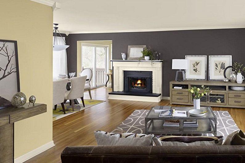 С какими цветами сочетается серый - Дизайн гостиной