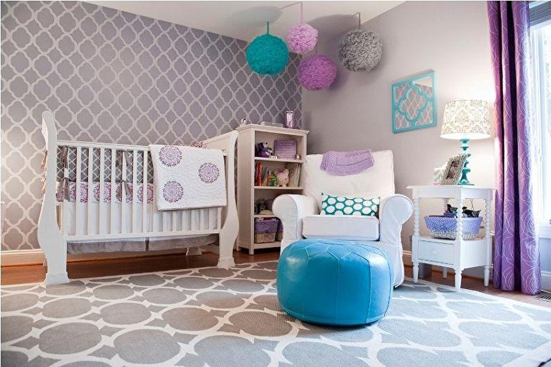 С какими цветами сочетается серый - Дизайн детской комнаты