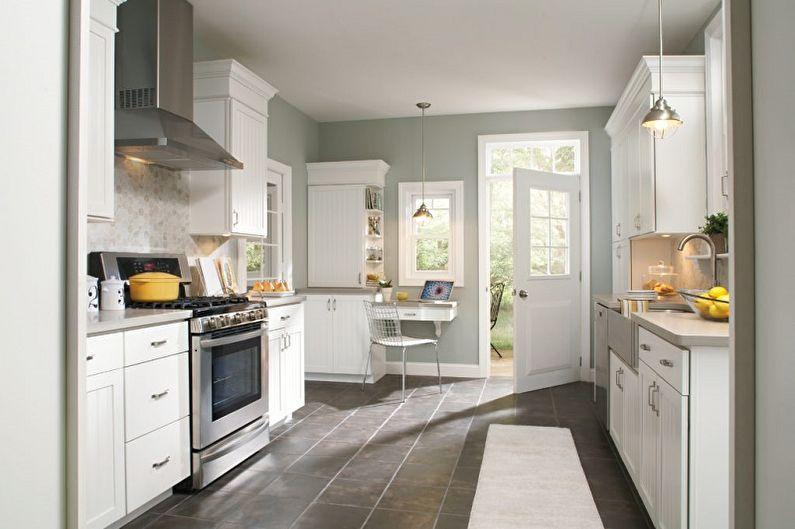С какими цветами сочетается серый - Дизайн кухни