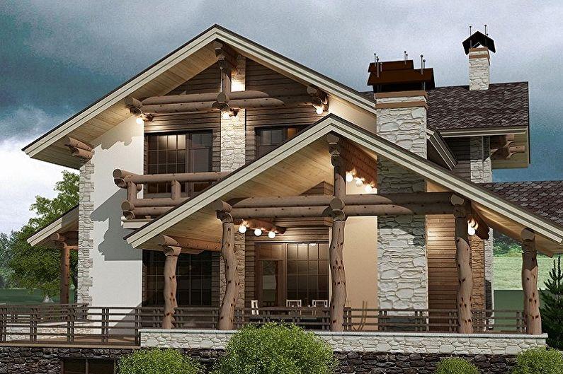 Двухэтажные дома - Преимущества