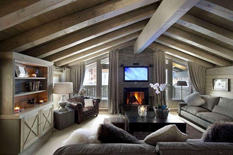 Современные проекты двухэтажных домов - Двухэтажный дом в стиле шале