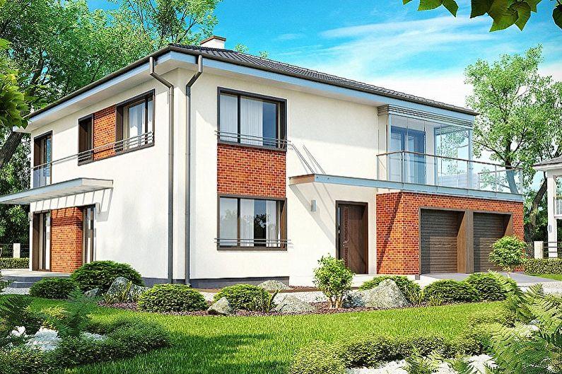Современные проекты двухэтажных домов - Двухэтажный дом с гаражом