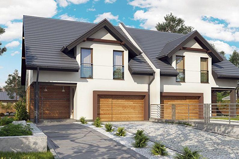 Современные проекты двухэтажных домов - Дуплекс