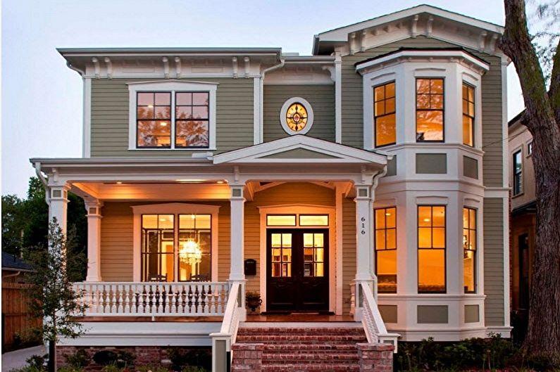 Современные проекты двухэтажных домов - Двухэтажный дом с эркером