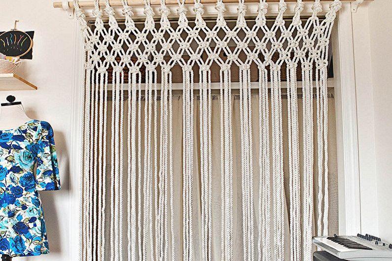 Виды нитяных штор - Материалы для изготовления