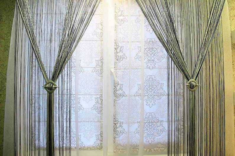 Нитяные шторы - фото