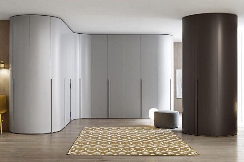 Угловой шкаф в прихожей в стиле минимализм