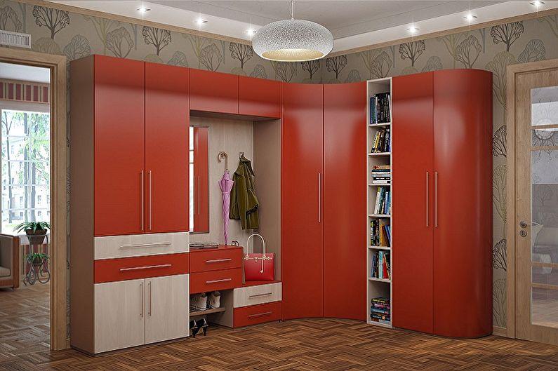 Угловой шкаф в прихожей в стиле модерн