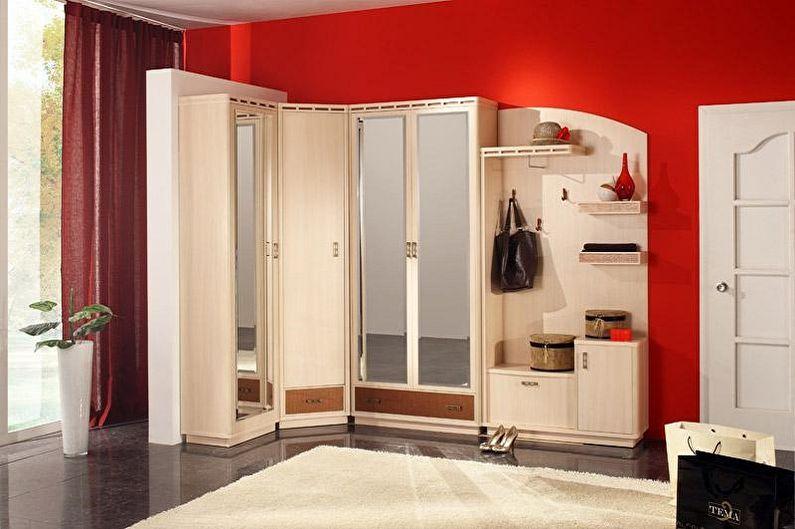Угловые шкафы в прихожую - фото